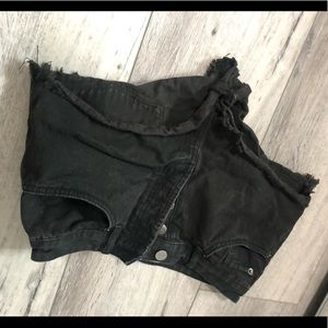 Society Amuse Black Denim Shorts